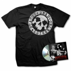 dead celebrity status bundle cd tshirt