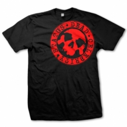 dcs tshirt black red stamp